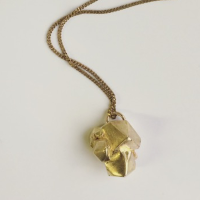 Brass Faceted Cluster Necklace