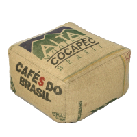 Vintage Tea Sack Pouf