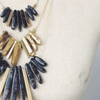 Vandra Jasper Necklace - Black