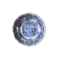 Spode blue china plate