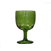 Wide Green Goblet