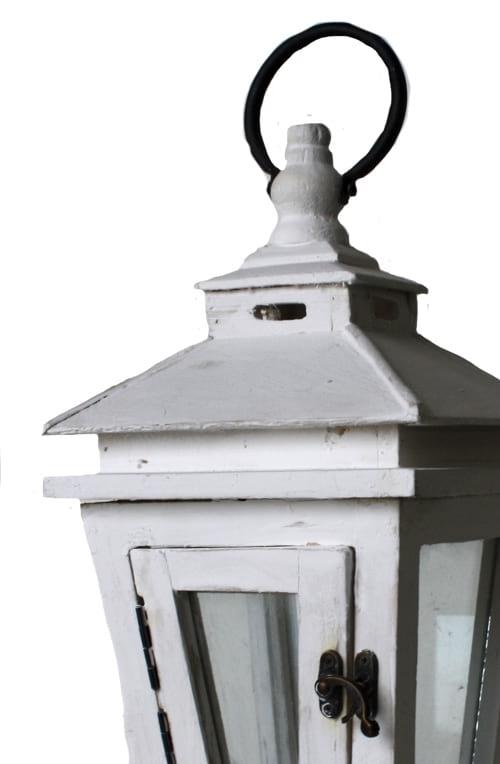 White Wash Lantern