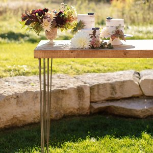 Hairpin leg cocktail  table