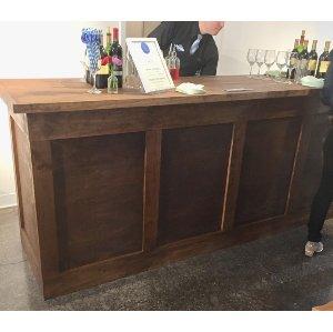 4 Pannel Dark Wood Bar