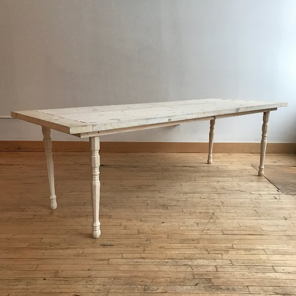 White Washed Farm Tables