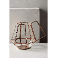 Copper Geometric Lantern - S