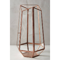 Copper Geometric Lantern - L