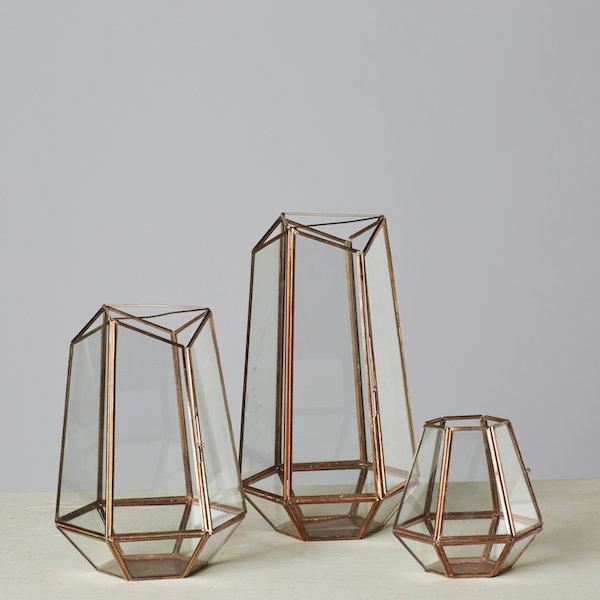 Melinda Geometric Lantern Set
