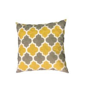 Yellow & Gray Pillow