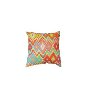 Small Rainbow Ikat Pillow