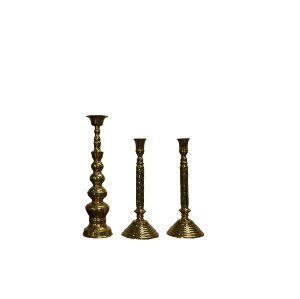 Large Brass Candle Sticks
