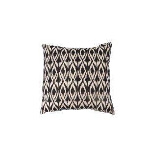 Black & White Ikat Pillow