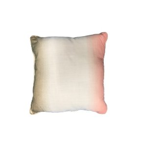 Gold Cream & Coral Pillow