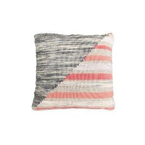 Grey & Coral Pillow