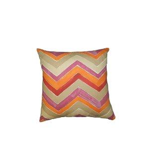 Pink/Orange Chevron Pillow