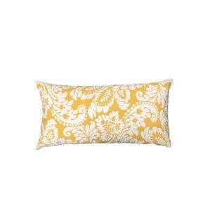 Yellow Damask Pillow