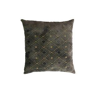 Navy and Cream Diamond Pattern Pillow
