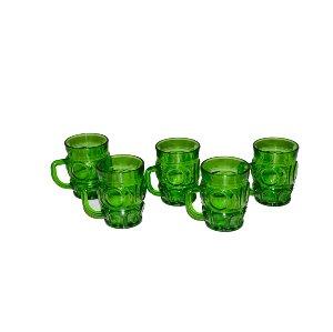 Green Glass Mugs