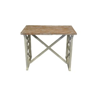 White Washed Medium Wood Table