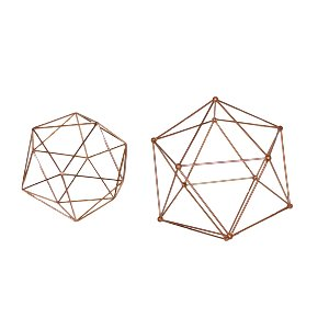 Rose Gold Spheres