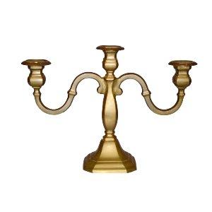 Brass Triple Arm Candelabras