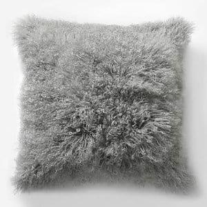 Grey Mongolian Pillow