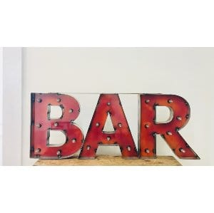Red Bar Sign