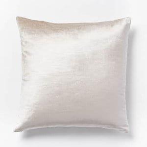 Oyster Velvet Pillow