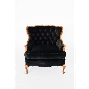 Turner Black Velvet Chair