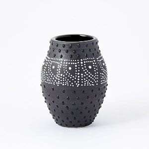 Black Dots Vase - small