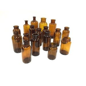 Brown Apothecary Bottles