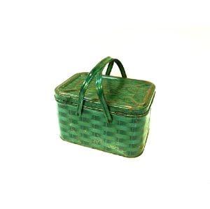 Green Tin Basket