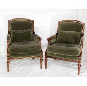Goldberg Green Velvet Chairs