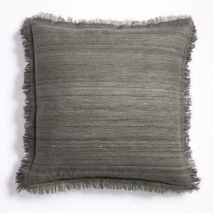 Grey Fringe Pillow