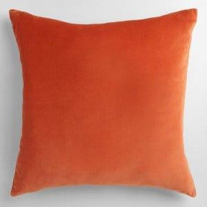 Orange Velvet Pillow