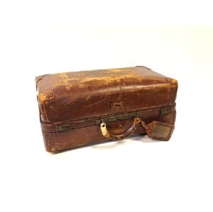 Lincoln Leather Suitcase