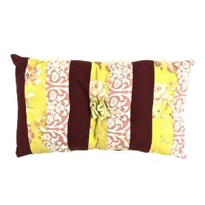 Floral Striped Pillow