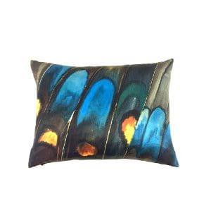 Peacock Silk Pillow
