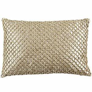 Gold Bead Pillow