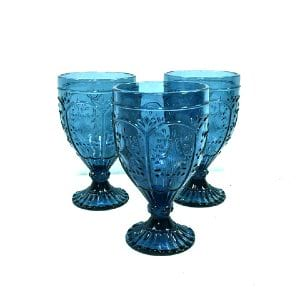 Perry Blue Goblets