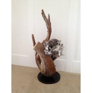 Beehive Wood Sculpture