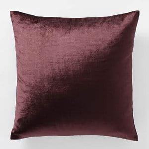 Currant Velvet Pillow