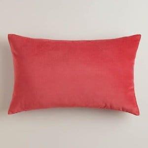 Coral Velvet Pillow
