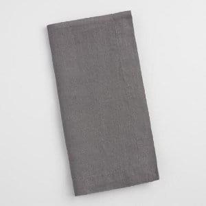Dark Grey Linen Napkins