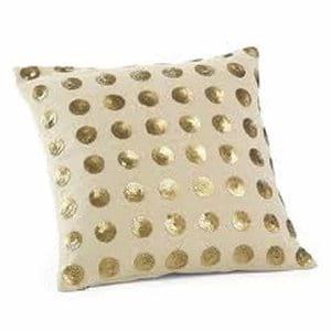 Gold Dots Pillow