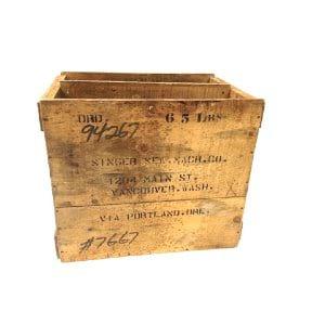 Singer Wood Crate