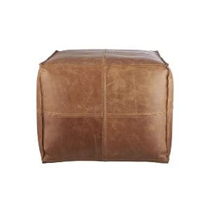 Brown Leather Poof