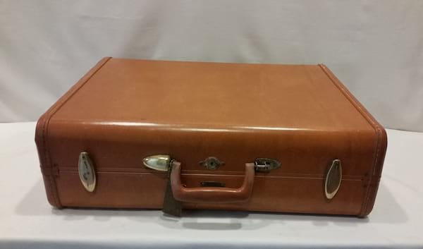 Suitcase - Leather Brown Hard Case