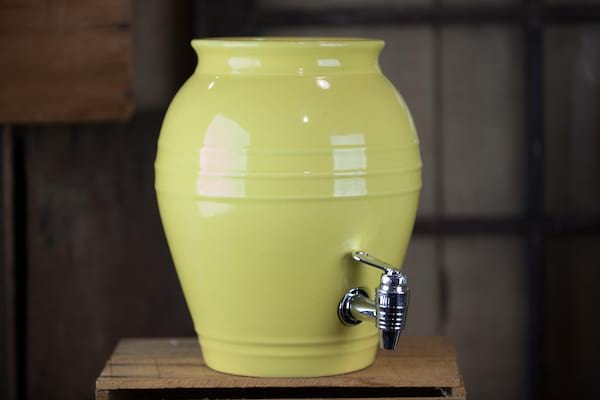 Beverage Dispenser - Yellow honey pot
