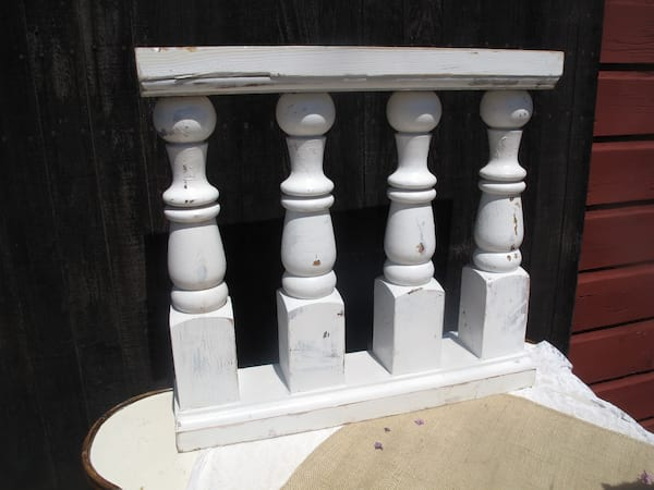 Fence - White porch fence